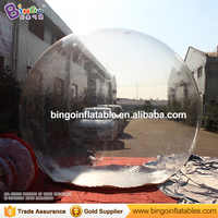 HIGH QUALITY PVC 3m inflatable Christmas snow ball toy air blow transparent ball toy customized balloon for advert fun game item