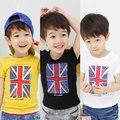 2016 Verano Ropa Chicas Chicos Bandera Ropa de Bebé Niño de la Bandera de Impresión de Manga Corta T-Shirt
