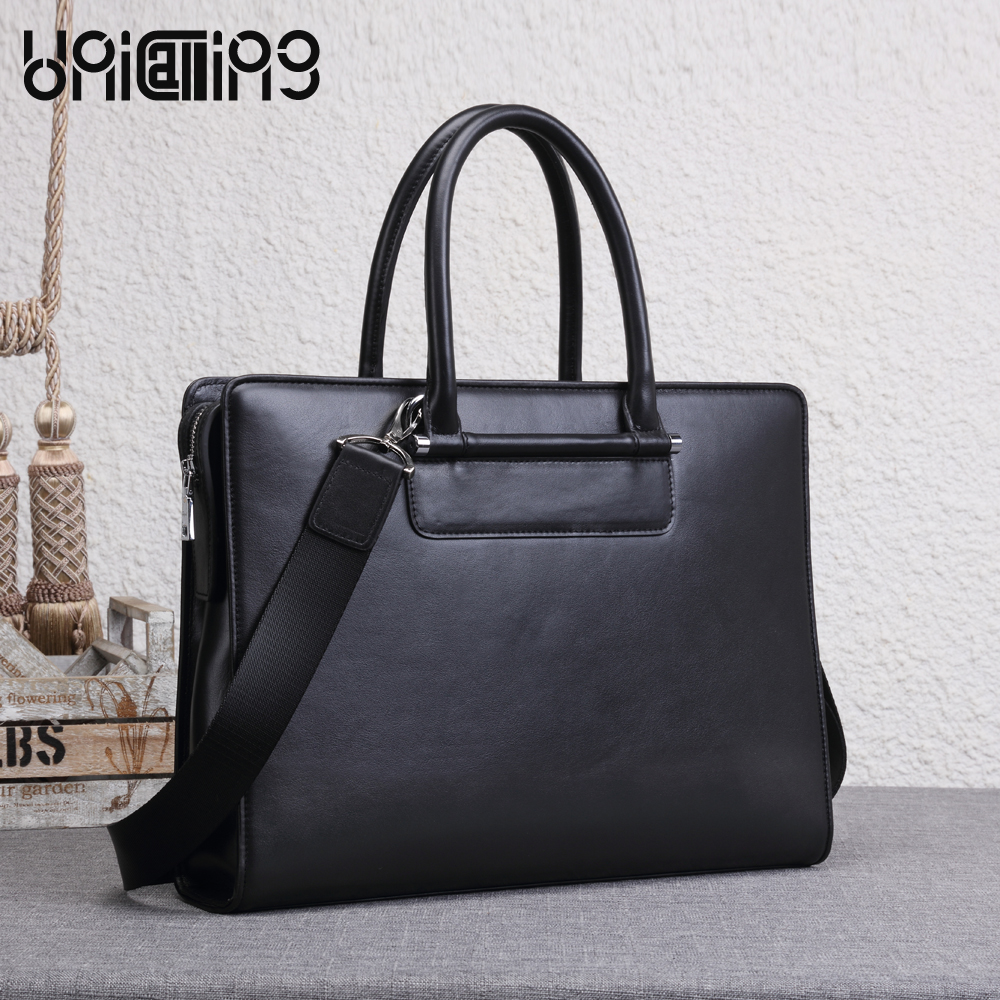 UNICALLING fashion leather men bag trendy premium quality men leather briefcase new style leather male bag business handbag unicalling denim