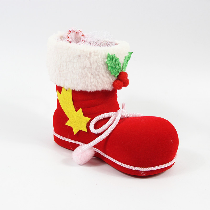 wholesale large mini christmas stocking christmas decorative candy box boot funny christmas gift box in stockings gift holders from home garden on - Large Christmas Gift Boxes