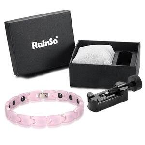 Image 5 - RainSo pembe Charm bilezikler kız için hematit manyetik seramik bilezik kadınlar için 2019 sıcak satış moda kadın Hologram takı