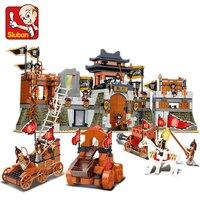 SLUBAN 0267 New Romance of the Three Kingdoms Battle of Jingzhou Building Block Set 3D Construction Brick GIFT Toys DIY