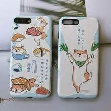 Shiba Inu embossed matte phone case for Iphone X iphone 8 8plus 7 7plus 6 6splus