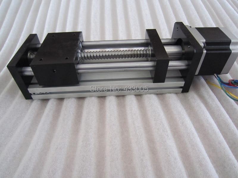 CNC GGP ball screw 1204 Sliding Table effective stroke 100mm Guide Rail XYZ axis Linear motion+1pc nema 23 stepper  motor hgr20 linear guide width 20mm length 700mm with hgh20ca linear motion slide rail for cnc xyz axis 1pcs