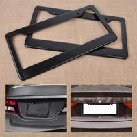 DWCX High Quality 2pcs JDM Front Rear Carbon Fiber Look USA/Canada License Plate Frame Tag Cover Holder for Auto Truck Vehicles|license plate frame|plate frame|license plate -