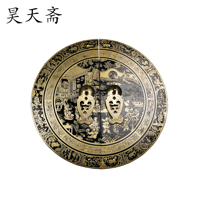 [Haotian vegetarian] Chinese antique cabinet drawer handle HTB-153 section diameter 24CM Beizitou [haotian vegetarian] chinese antique cabinet drawer handle copper htb 147 section diameter 18cm beizitou