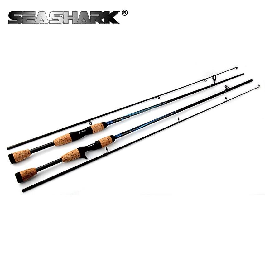 SEASHARK 1.8M Lure Fishing Rod Casting Spinning Rod Lure W. 6-12g 6-12LB 2 Sections Pole 93cm Fishing Rod Bag Tube