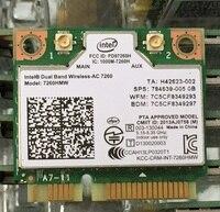 Ssea новый сетевой карты для Intel Dual Band Беспроводной-AC 7260 7260hmw Bluetooth 4.0 Wi-Fi Половина мини pci-e 802.11ac 867 Мбит/с