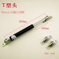 Free shipping 120N/12KG force 900mm central distance, 400 mm stroke, pneumatic Auto Gas Spring, Lift Prop Gas Spring Damper