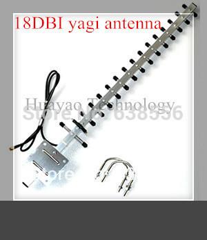 Recién llegado, wifi 2.4 G alta ganancia 18 dbi 18 unidades yagi antena exterior con 3 M cable