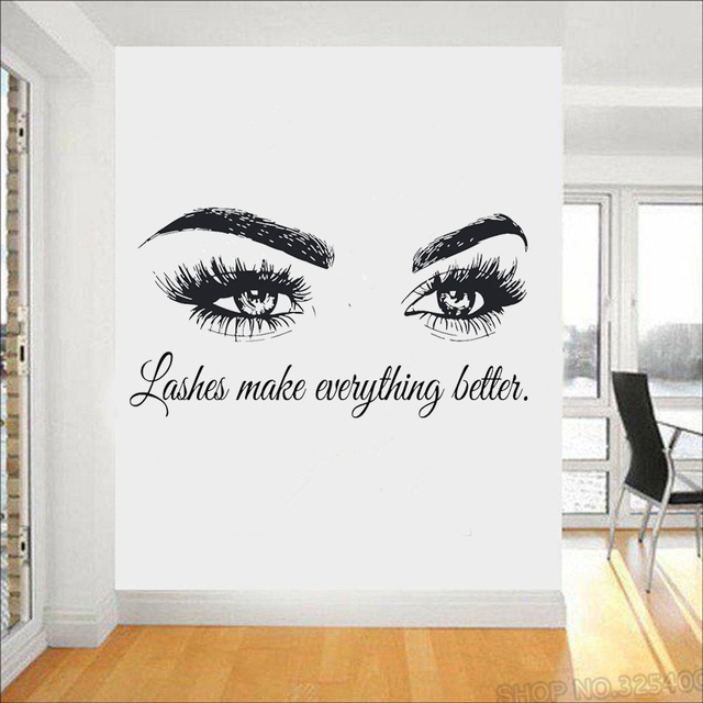 eye eyelashes wall decal sticker lashes extensions eyebrows brows