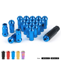 20 Pcs/Set M12X1.5 50mm M12X1.25 47mm Open Extended Tuner Lug Nuts Wheels Rims Colorful