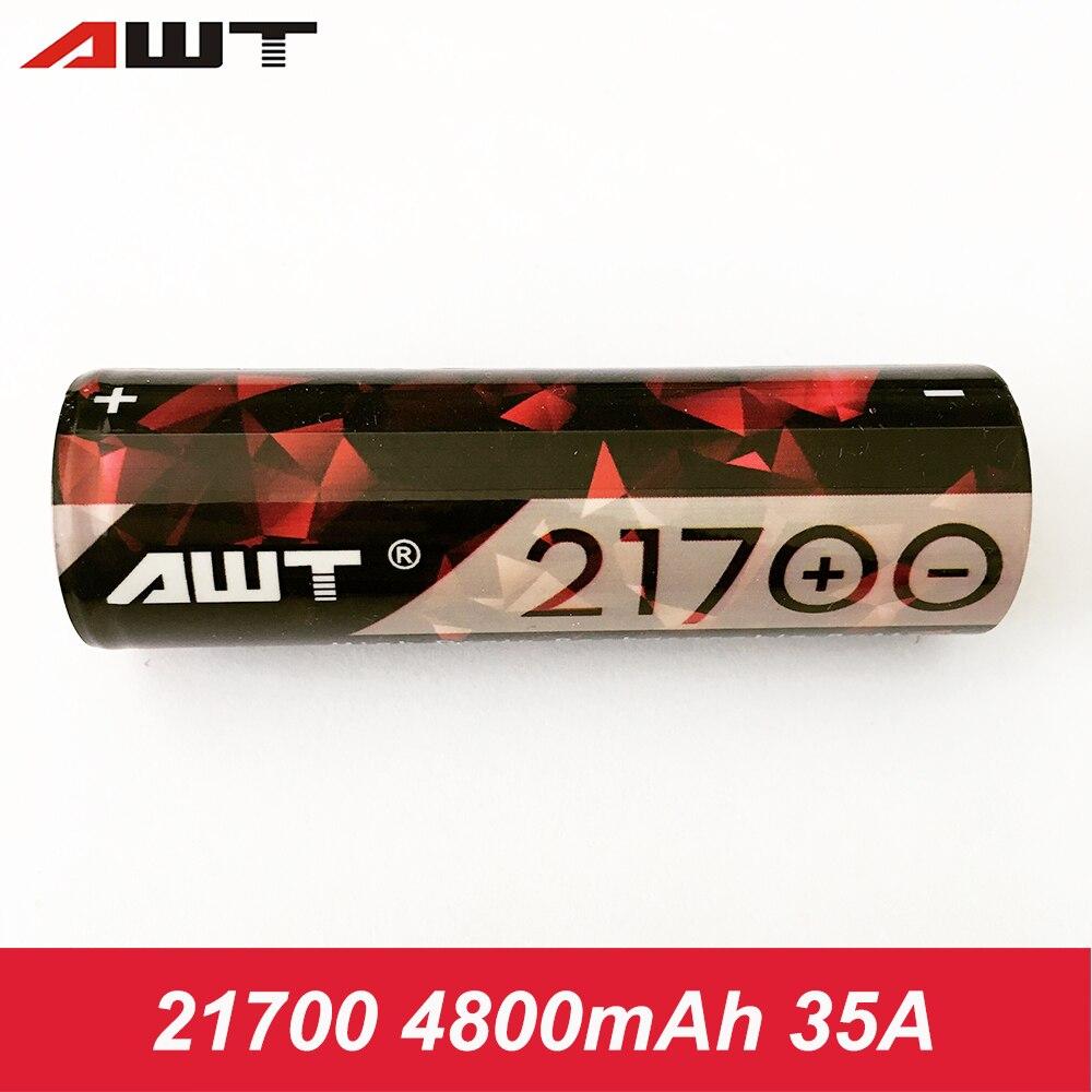21700 Batterie AWT Vaporisateur Rechargeable Batterie 4800 mAh 35A pour Joyetech ESPION Solo 21700 TC Mod ESPION Infini 21700 Boîte Mod W026