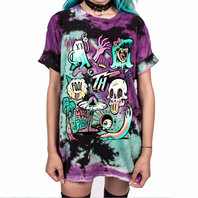 bdb89e4225f Dropshipping Cute Monsters Funny Printed T Shirt Women Halloween Tops Tees  Short Sleeve O-Neck 3D T-Shirts Plus Size 4XL 5XL