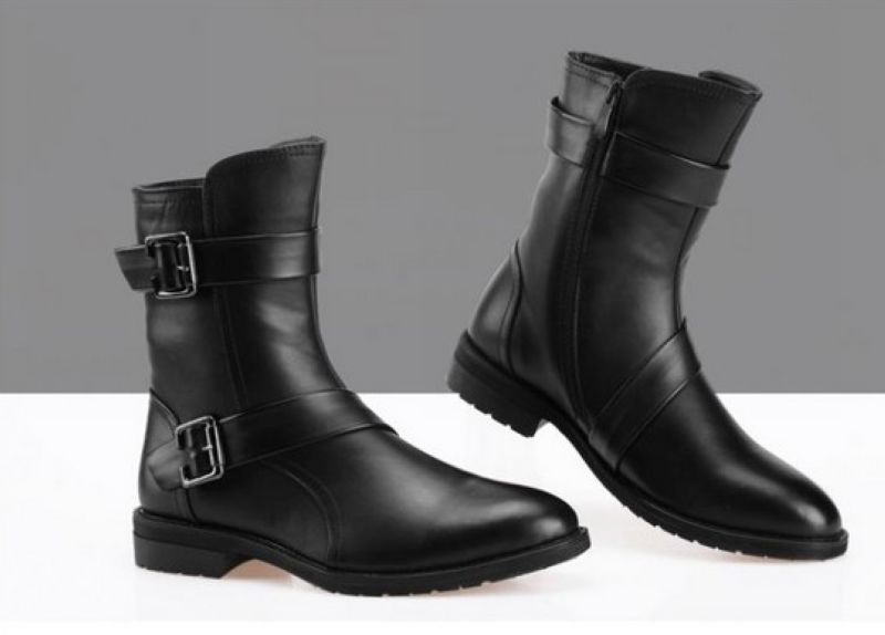 Men Black Leather Boots | FP Boots