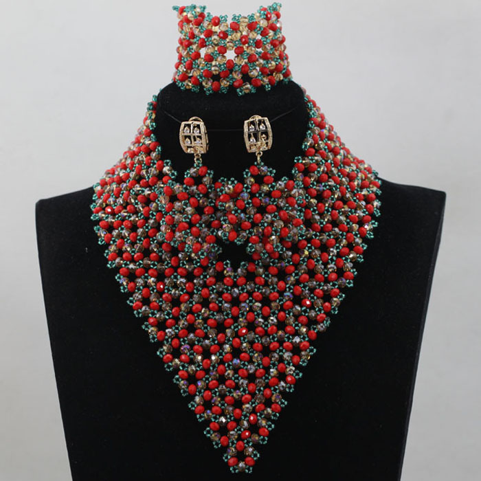 Big Promotion Latest Design Nigerian Wedding African Beads Jewelry ...