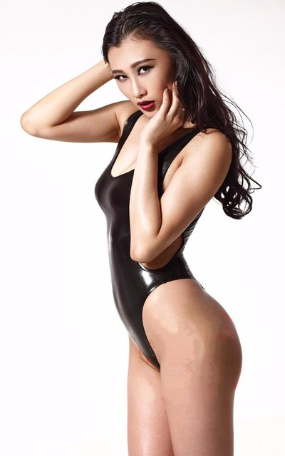 HOT Sexy 200D Latex Backless Bodysuit Catsuit Thong Body Suits For Women Sleeveless NIght Club Wear Women's Sexy Black