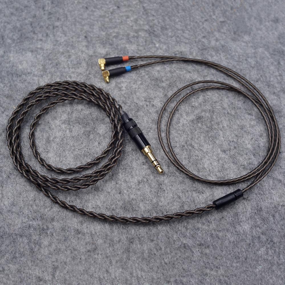Nouveau 1.2 m sans oxygène cuivre argent plaqué écouteurs câbles 2.5mm prise MMCX HiFi Balance câble pour F7200 F4100 F3100 ER4SR ER4XR-in Écouteurs from Electronique    2