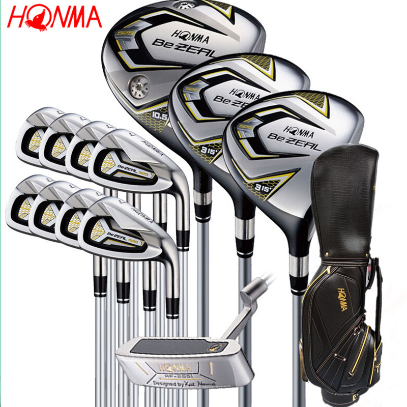 New 525 Golf Clubs HONMA BEZEAL 525 Complete Set HONMA Golf driver.wood.irons.putter Graphite Golf shaft plus bag Free shipping-in Golf Clubs from Sports & Entertainment