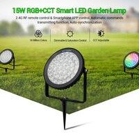 FUTC03 Milight 15W RGB + CCT LED Garten Lampe 220V outdoor Spot licht wasserdichte intelligente Rasen licht Mobile telefon control 2700 6500K-in LED-Gartenlampen aus Licht & Beleuchtung bei