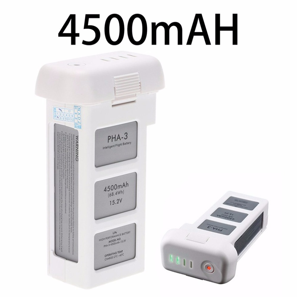 15.2V 4500mAh Standard Intelligent LiPo Battery High Capacity Drone Battery For DJI Phantom 3 Standard Professional Advanced аккумулятор dji battery lipo 15 2v 4480 mah 4s for phantom 3
