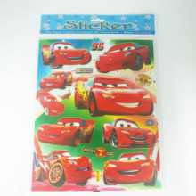 6pcs/lot Cartoon Lightning Mcqueen Stickers Decals PVC DIY Waterproof Cute  Funny