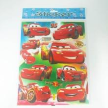 6pcs/lot Cartoon Lightning Mcqueen Stickers Decals PVC DIY Waterproof Cute Lightning Mcqueen Waterproof  Funny Waterproof цена