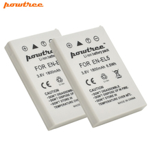Powtree 2X 3.6V 1800mAh EN-EL5 ENEL5 EN EL5 Camera Battery for Nikon Coolpix P4 P80 P90 P100 P500 P510 P520 P530 P5000 P5100 L15