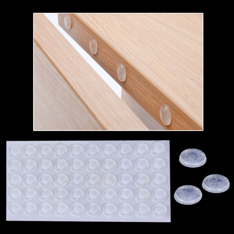 50Pcs Door Stops Stopper Silicone Cabinet Self Adhesive Bumper Damper Buffer Pad-m52 wired door window sensor switch wired zone magnetic door open reminder for home gsm alarm system 10a q2