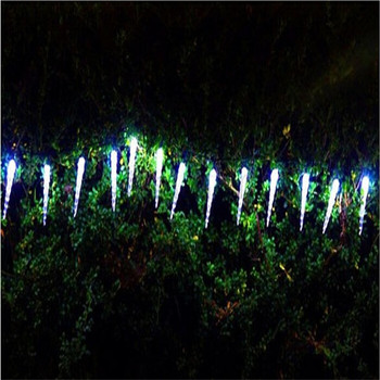 Holiday Lighting 7.5M 50 LED Icicle Home Xmas Decoration Christmas Battery Lights Outdoor Waterproof Fairy Curtain String Lights led christmas lights decoration suction cup snowman christmas tree curtain lights battery lights holiday atmosphere lighting