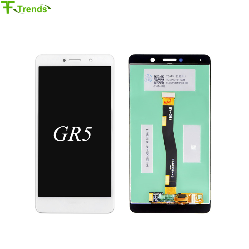 Fftrends 5pcs Grade A+++ LCD Display For Pantalla Huawei GR5 2017 Touch Screen Digitizer Assembly Replacement Free Shipping&DHL