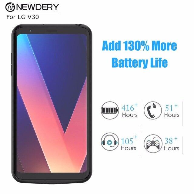 huge discount 85cb1 0f47d US $59.99 |New Hot charger case for LG V30 4200mAh Black battery case for  LG V30 high capacity Rechargeable battery cover-in Battery Charger Cases ...