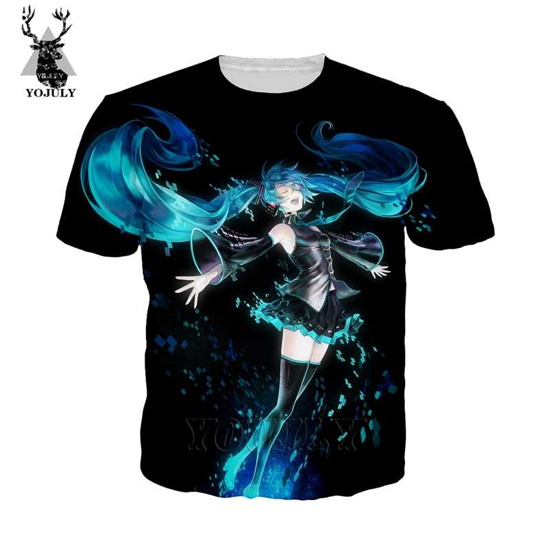 Hatsune miku t camisa moda feminina camisetas 3d harajuku kawaii anime menina sexy loli t o-pescoço manga curta streetwear tops 16