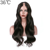 PAFF U Part Human Hair Wigs For Women Body Wave 100% Brazilian Remy Hair Middle Part 1*3 Natural Color Free shiping