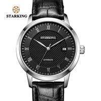STARKING деловые часы Мужские автоматические полностью из нержавеющей стали с римским циферблатом 28800 Beats механические наручные часы Relogio Masculino ...