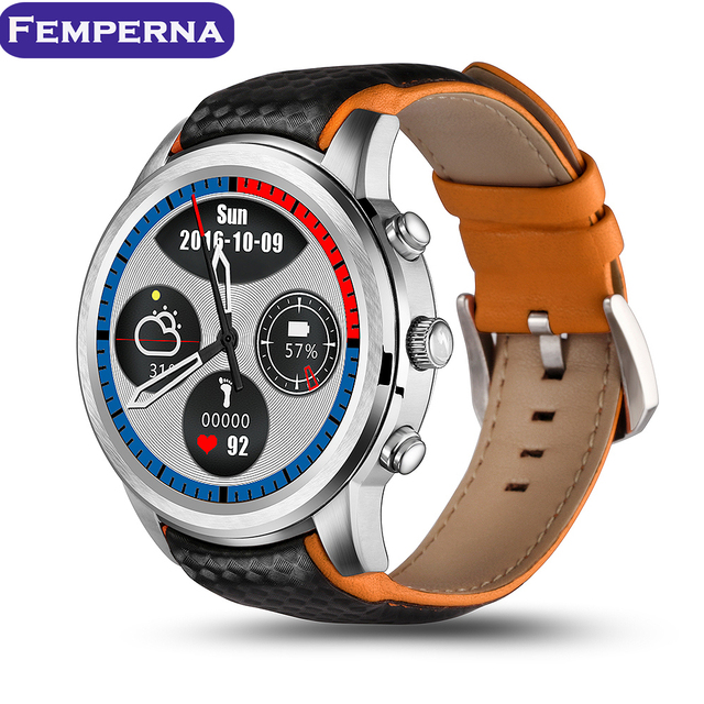 Lemfo LEM5 Android 5.1 OS Smart Watch phone MTK6580 1 ГБ + 8 ГБ 1.39 дюймов экран WI-FI GPS Heart Rate Monitor bluetooth SmartWatch