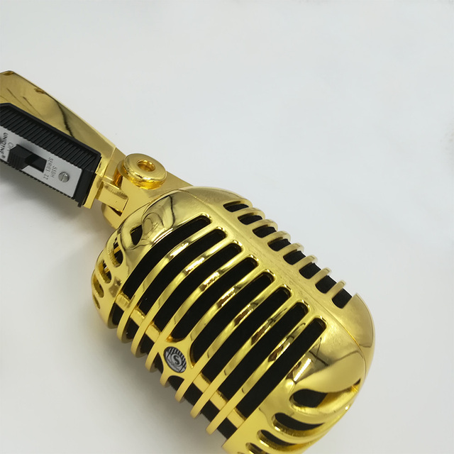 Golden 55sh Ribbon Microphone Pro Capsule Mic Live Streaming Microphone for YouTube Videos Live broadcast Recording Studio