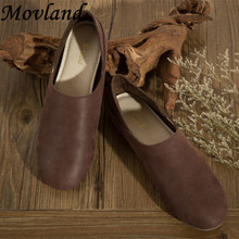 Hot 2016 head layer cowhide pure handmade women flats,retro shallow mouth the ancient Zen comfortable leather shoes,3 colors