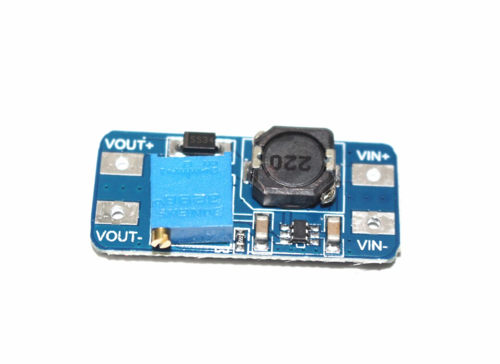 2 A Liter Clamp DC - DC Booster Module Input 2 - 24v  Output Can Be Adjusted 5/9/12/28 V