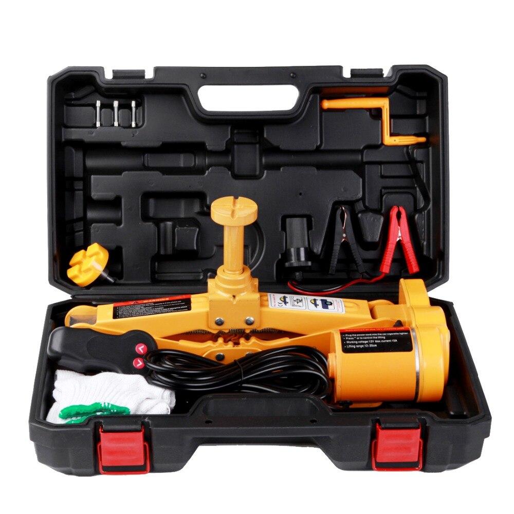 Offre spéciale Jack hydraulique automatique multifonctionnel DC12V 3 tonnes Jack de voiture électrique Portable ciseaux pour Kit d'outils de réparation rapide