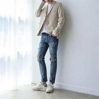 Men Baggy Blazer Fashion Loose Mens Blazers Casual Korean Style Summer High Street Blazer Male Quality Clothes Masculino DS5013