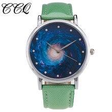 CCQ Céu Estrelado Pulseira de Couro Marca de Luxo Da Moda Mulheres Casual Esporte Relógio de Quartzo Senhoras Relógio de Pulso Relogio feminino Relógio C32