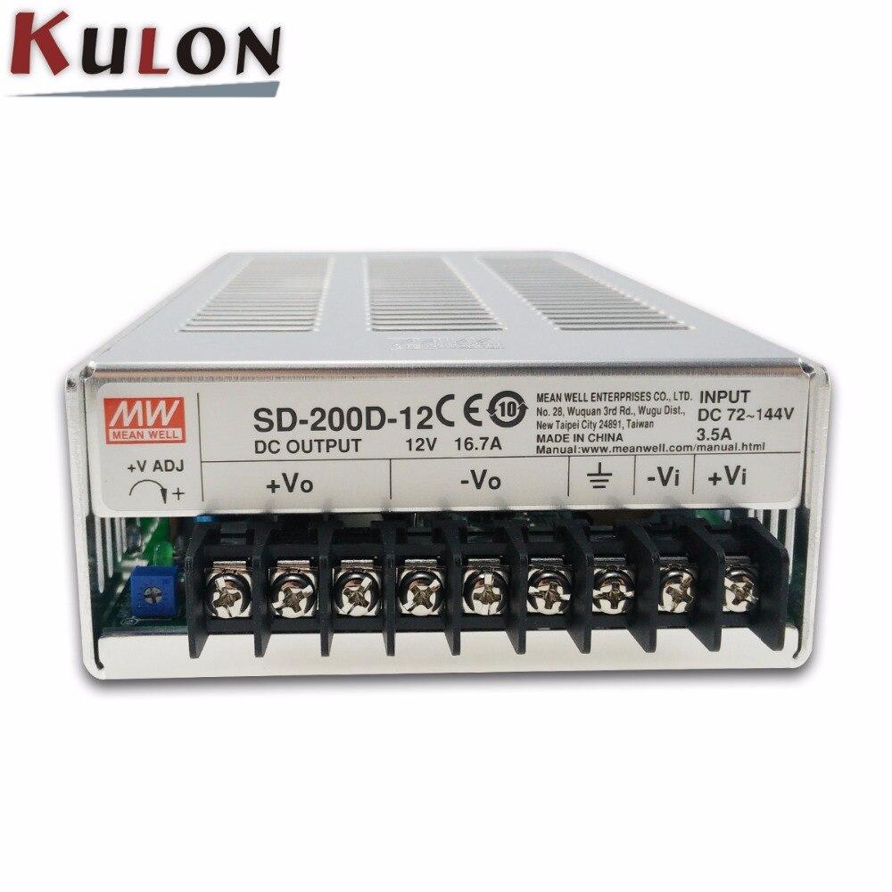 Original MEAN WELL SD-200D-12 Single Output 200W 16.7A 12VDC Input 72~144VDC meanwell dc/dc converter 12VOriginal MEAN WELL SD-200D-12 Single Output 200W 16.7A 12VDC Input 72~144VDC meanwell dc/dc converter 12V