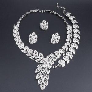 OEOEOS 2018 нигерийское свадебное ожерелье набор для женщин Африканский Дубай серебряный цвет индийские свадебные ювелирные наборы невесты юве...