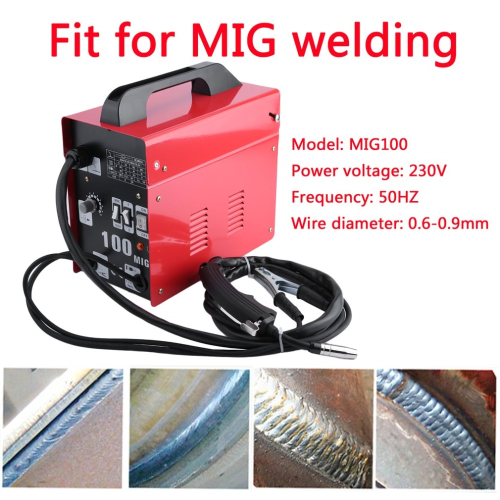 New MIG100 Gas-Shielded Welding Machine Professional Electric Welding Machine Durable MIG Weldering Equipment EU Plug цены