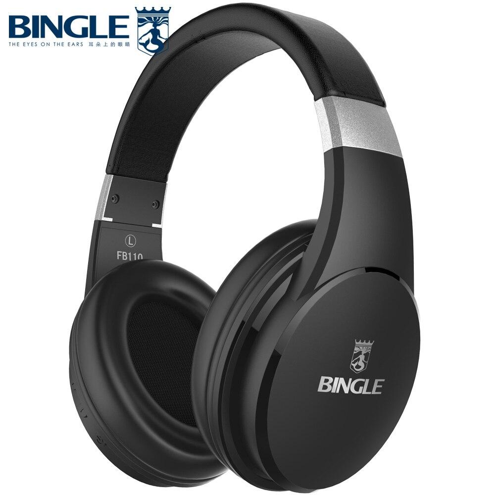 Bingle FB110 Noise Cancelling Über Ohr Verdrahtete Drahtlose Bluetooth Kopfhörer Kopfhörer Cordless Headsets BT Kopf Telefon Fone de ouvido