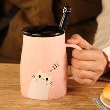 Cute Cat Paws Bear Mugs with Spoon Ceramic Personality Milk Mug Cup Office Coffee Tumbler Creative Breakfast Drop Shipping