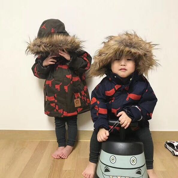 Pre-sale 2017 winter kids panda jackets coat boy clothes boys clothing vestido GIRLS  clothing penguin coat christams gift BABY hot sale open front geometry pattern batwing winter loose cloak coat poncho cape for women