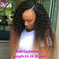 7a Brazilian Virgin Hair With Closure Kinky Curly Hair Ombre Weave With Closure Blonde Brazilian Hair With Closure 4 Bundles