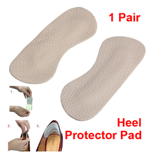 2pcs Foot Care Cushion  Insole Liner High Heel Shoes Back Leather Pad LT88